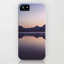 Sunrise over Glacier iPhone Case
