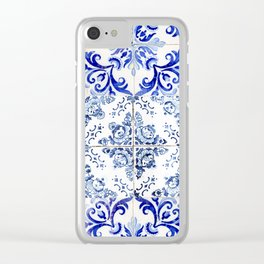 Azulejo VIII - Portuguese hand painted tiles Clear iPhone Case