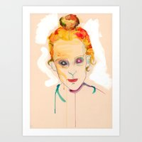 Art Print featuring Self Portrait by Tessa Heck