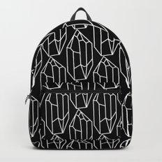 Black Crystal Pattern Backpack
