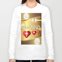 madrid Long Sleeve T-shirts featuring Madrid 01 by Daftblue