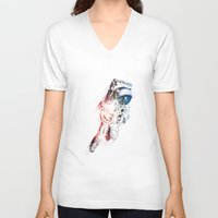 spaceman V-neck T-shirts featuring Spaceman by MUSENYO