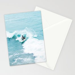 Wave Surfer Turquoise Stationery Cards