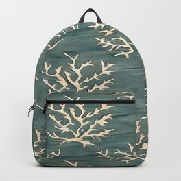 Abstract Antlers Pattern on Teal Blue Backpack