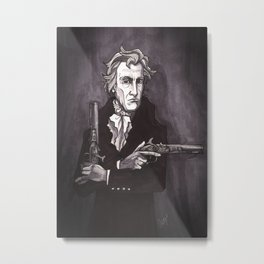 Andrew Jackson with his dueling pistols Metal Print