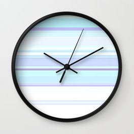 Stripes Pastels Oceans are Blue Pattern Wall Clock