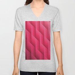 Gradient Pink Diamonds Geometric Shapes Unisex V-Neck