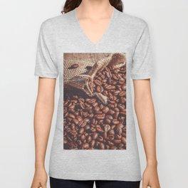 Coffee Beans Unisex V-Neck