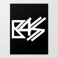 bass Canvas Prints featuring BASS by DropBass