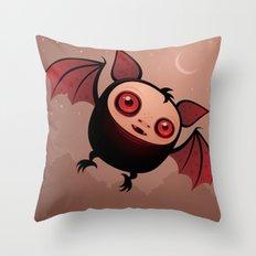 RedEye the Vampire Bat Boy Throw Pillow