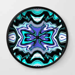 Fluid Abstract 04 Wall Clock