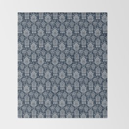 Cuckoo Clocks on Blue Throw Blanket