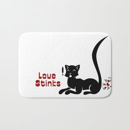 Love Stinks Bath Mat