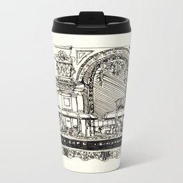 Old school cafe Metal Travel Mug