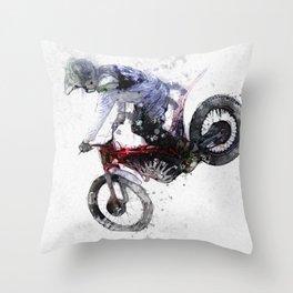 Nose Stand - Motocross Move Throw Pillow