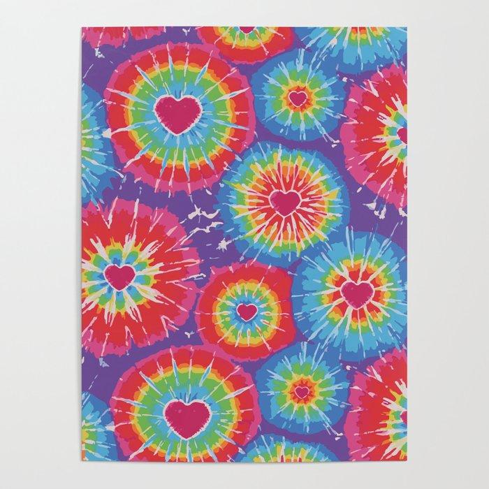 Love Tye Dye Poster