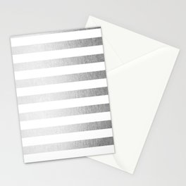 Simply Striped Moonlight Silver Stationery Cards