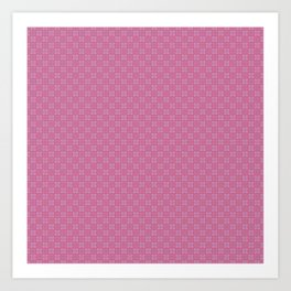 Red & Pink pattern I Art Print