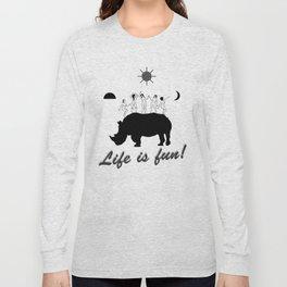 Dances on Rhino Long Sleeve T-shirt
