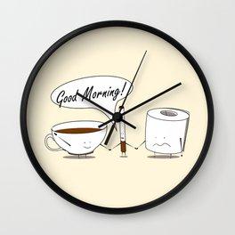 Morning Combo Wall Clock
