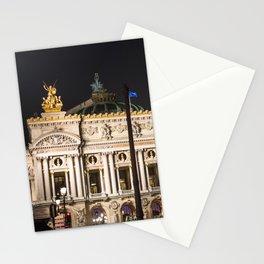 Paris, Opéra Garnier night Stationery Cards