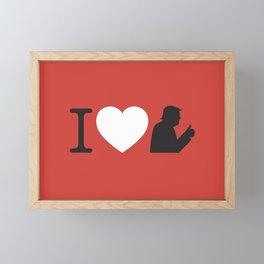 I Love Trump Framed Mini Art Print