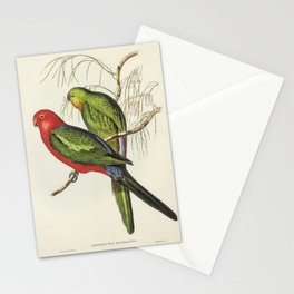 King Lory (Aprosmictus scapulatus) illustrated by Elizabeth Gould (1804–1841) for John Gould's (1804 Stationery Cards