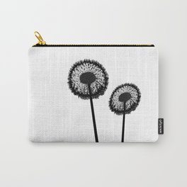 Black Dandelions Carry-All Pouch