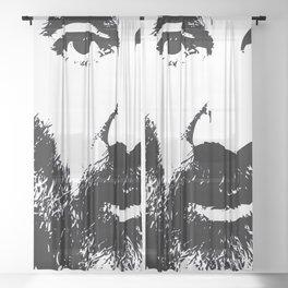 Self Portrait 2018 Sheer Curtain