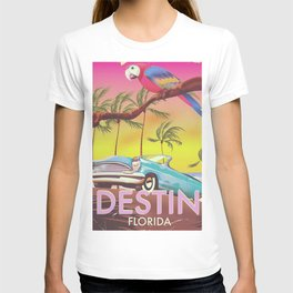Destin Florida USA vintage style travel poster T-shirt