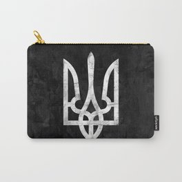 Ukraine Black Grunge Carry-All Pouch