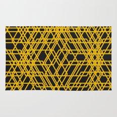 yellow net Rug