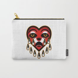 American traditional tattoo style heart. Carry-All Pouch