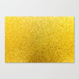 Sunshine Glittery Golden Sparkle Canvas Print