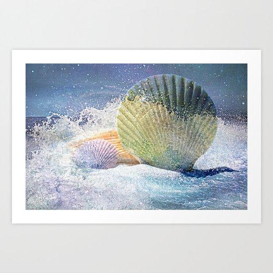 Subtle Sea Splash Art Print