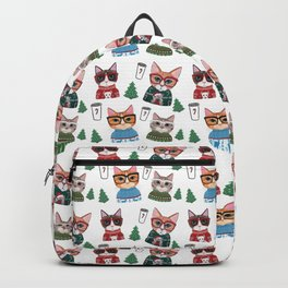 Ugly Christmas Sweater Cats Backpack
