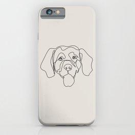 One Line Golden Retriever iPhone Case
