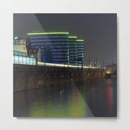 October Night on the BERLIN river Spree Metal Print