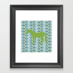 Greenery Unicorn V02 Framed Art Print