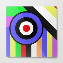 Bold Geometry - Abstract, Geometric, Retro Art Metal Print