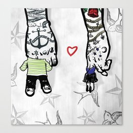 Inkling of Love  Canvas Print