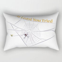 At Least You Tried - Bee Caught in a Web Rectangular Pillow