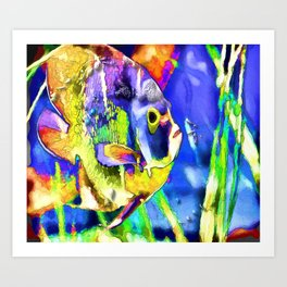 Fish Snack Art Print