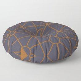 the moon grid pattern 2 Floor Pillow
