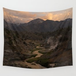 Hot Creek Sunset in the Sierras Wall Tapestry