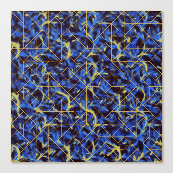 The Blue and Yellow Canvas Print