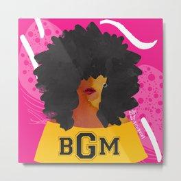 SCHOOL OF BLACK GIRL MAGIC Metal Print