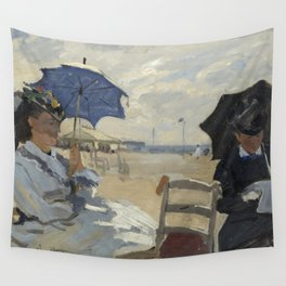 The Beach at Trouville by Claude Monet Wall Tapestry