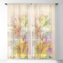 Lily Stole My Heart Sheer Curtain
