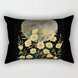 Greeting the Moon - Evening Primrose Rectangular Pillow